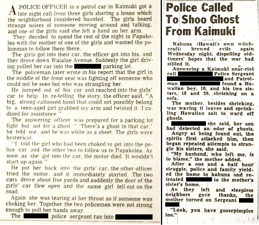 Police Report at Kaimuki