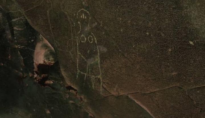 Lukisan Misterius yang diduga Alien