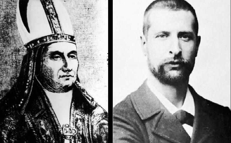 Paus Sylvester II (Kiri) Alexandre Emile John Yersin (Kanan)