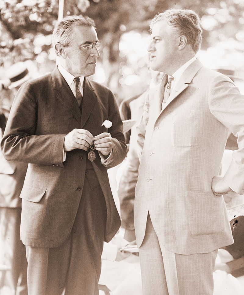 President Wilson with Mitchell Palmer, the first Alien Property Custodian