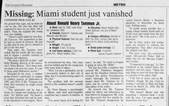Misteri Kasus Hilangnya Ronald Tammer, Jr