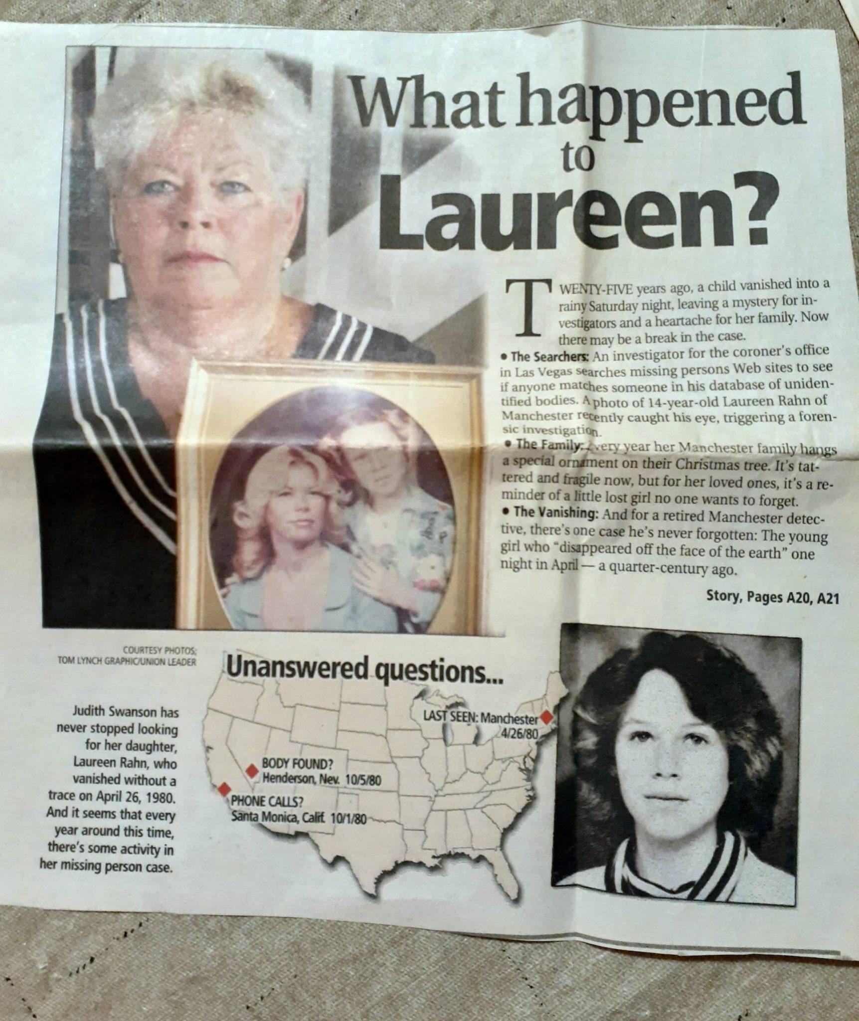 Misteri Tak Terpecahkan Hilangnya Laureen Rahn