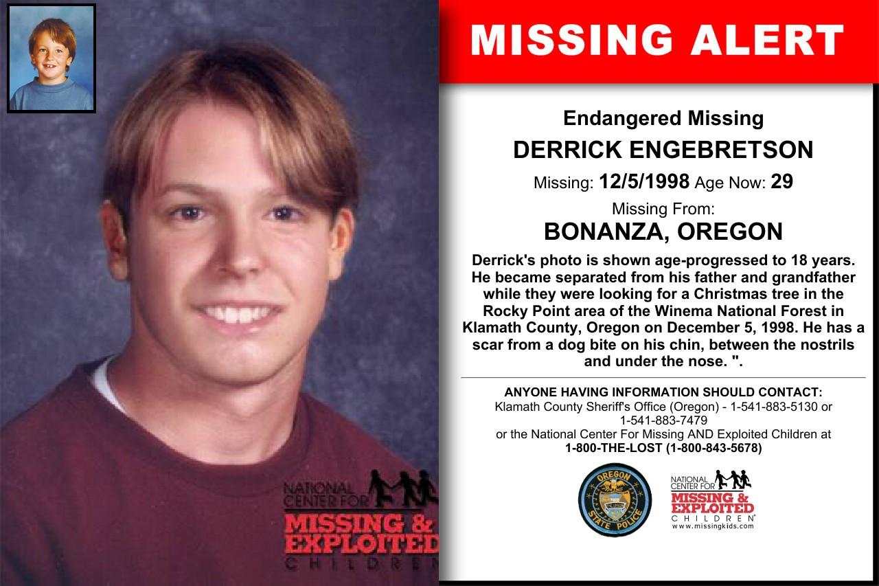 Kasus Orang Hilang Misterius Derrick Engebretson