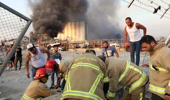 Ledakan Besar di Beirut Lebanon