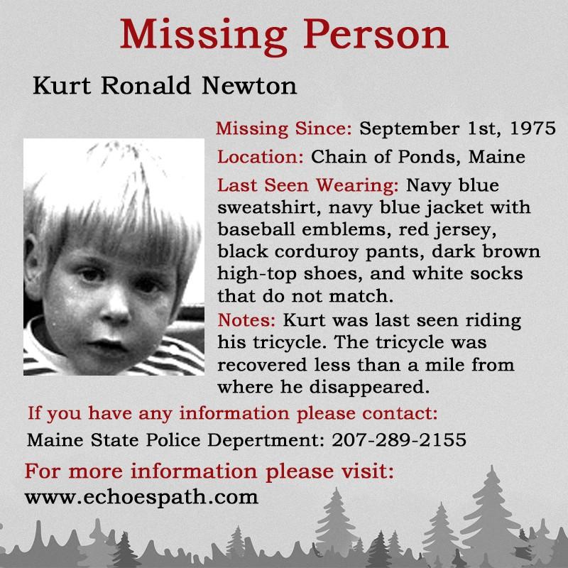Biodata Lengkap Kurt Ronald Newton Saat Hilang