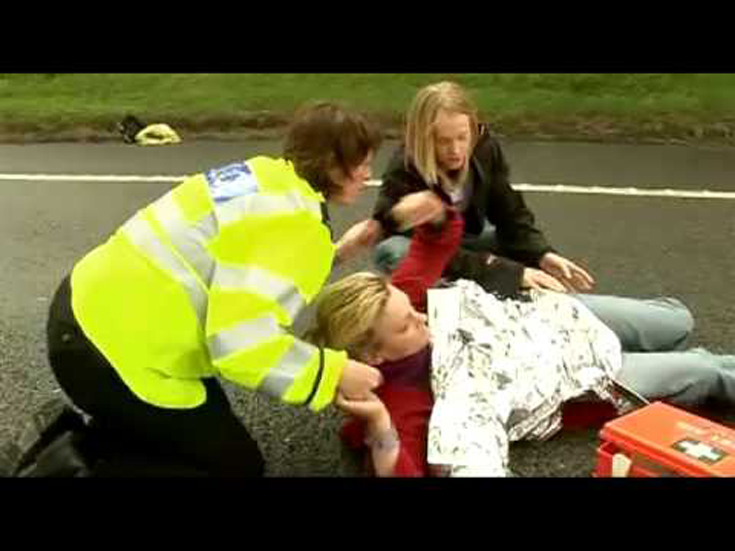 Sabina Eriksson Tertabrak di Jalan Raya M6