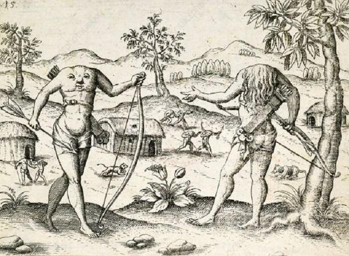 The Headless Men, Suku Tanpa Kepala Yang Misterius