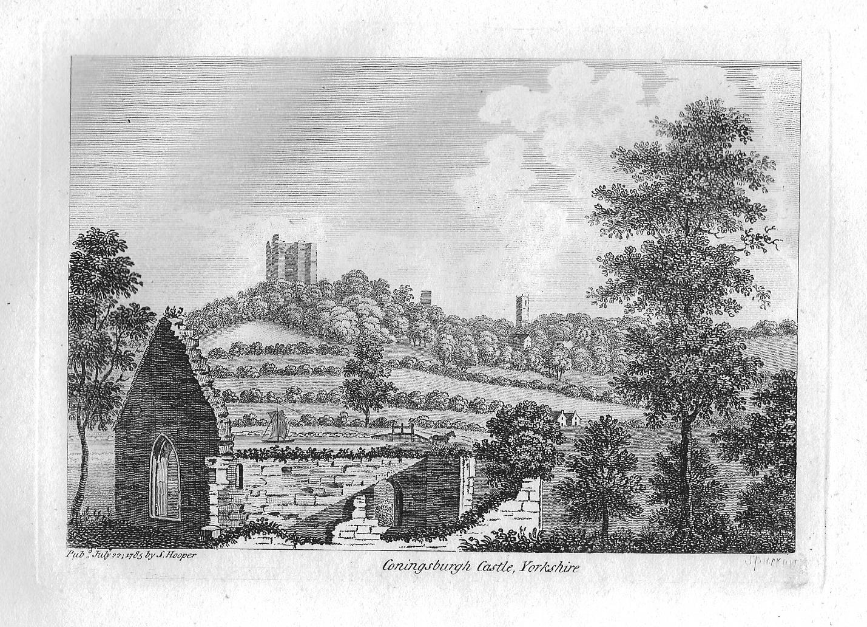 Kastil Conisbrough pada tahun 1785.