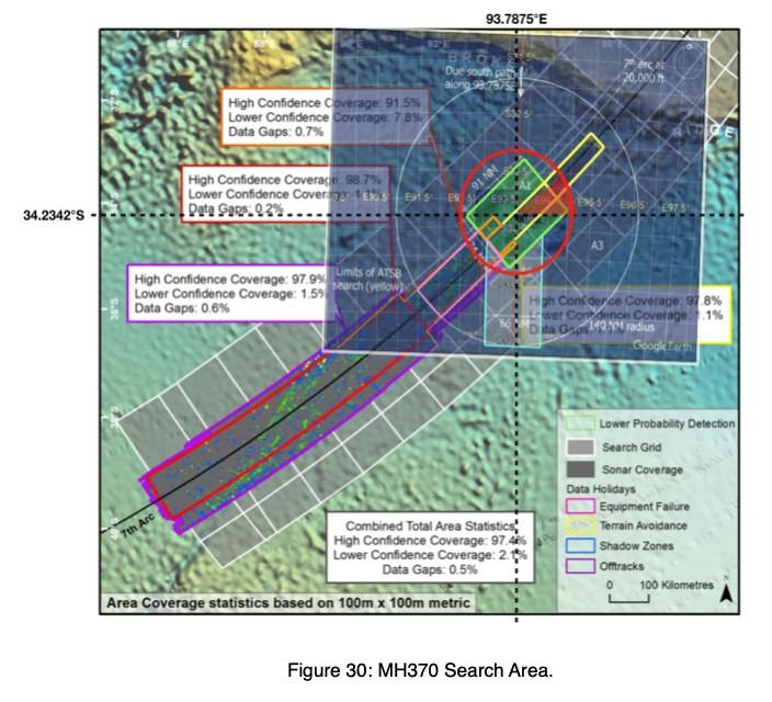 Area Pencarian Pesawat MH370
