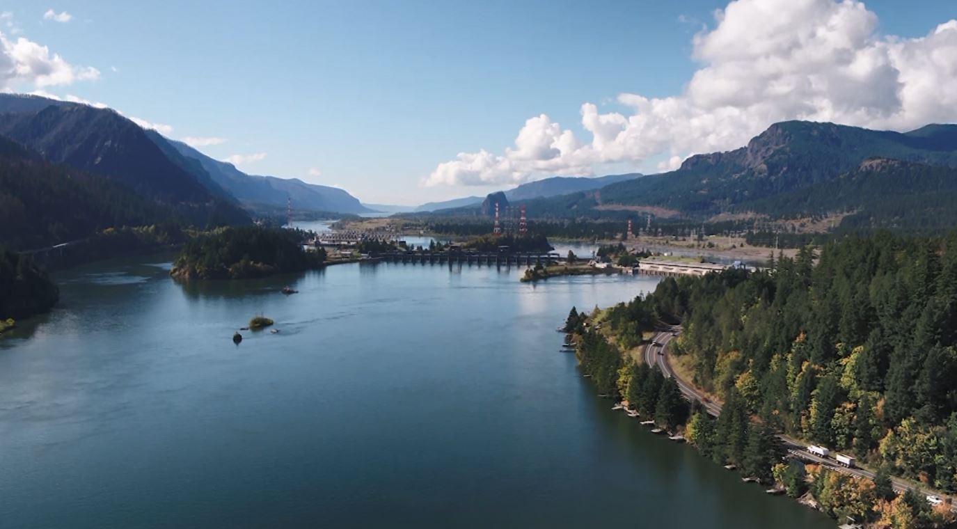 Sungai Columbia, Oregon