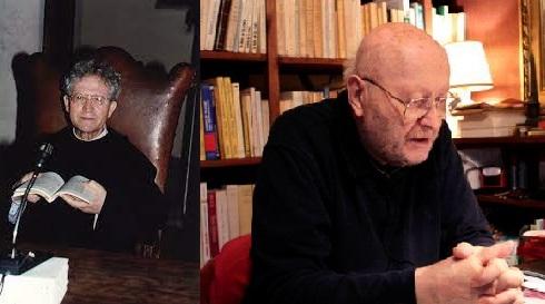 Pellegrino Ernetti (Kiri) Pastor François Brune (Kanan)