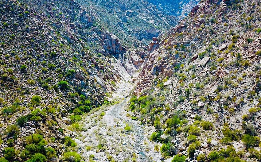 Ngarai Diablo di San Pedro Mártir Sierra.