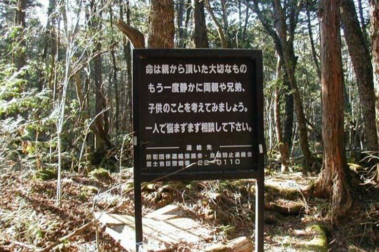 Pesan Yang Ada Di Depan Hutan Aokigahara